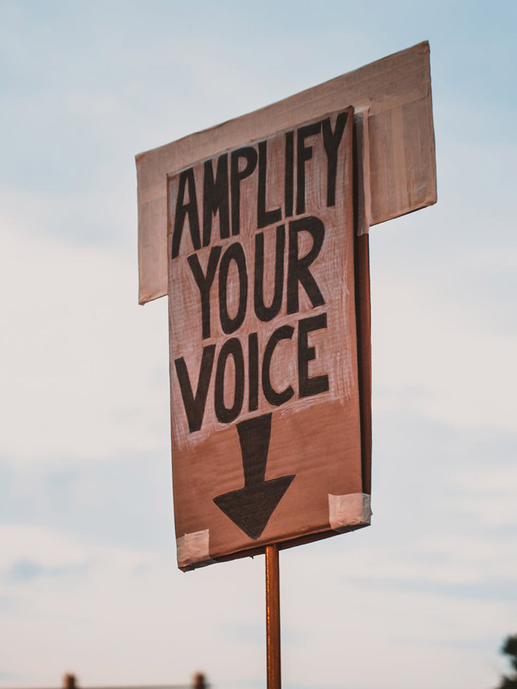 Amplify your voice