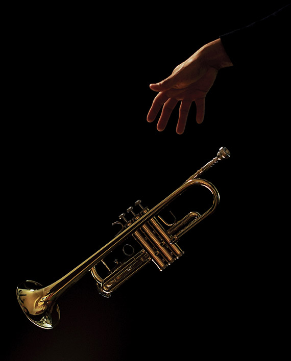 Trumpet and hand